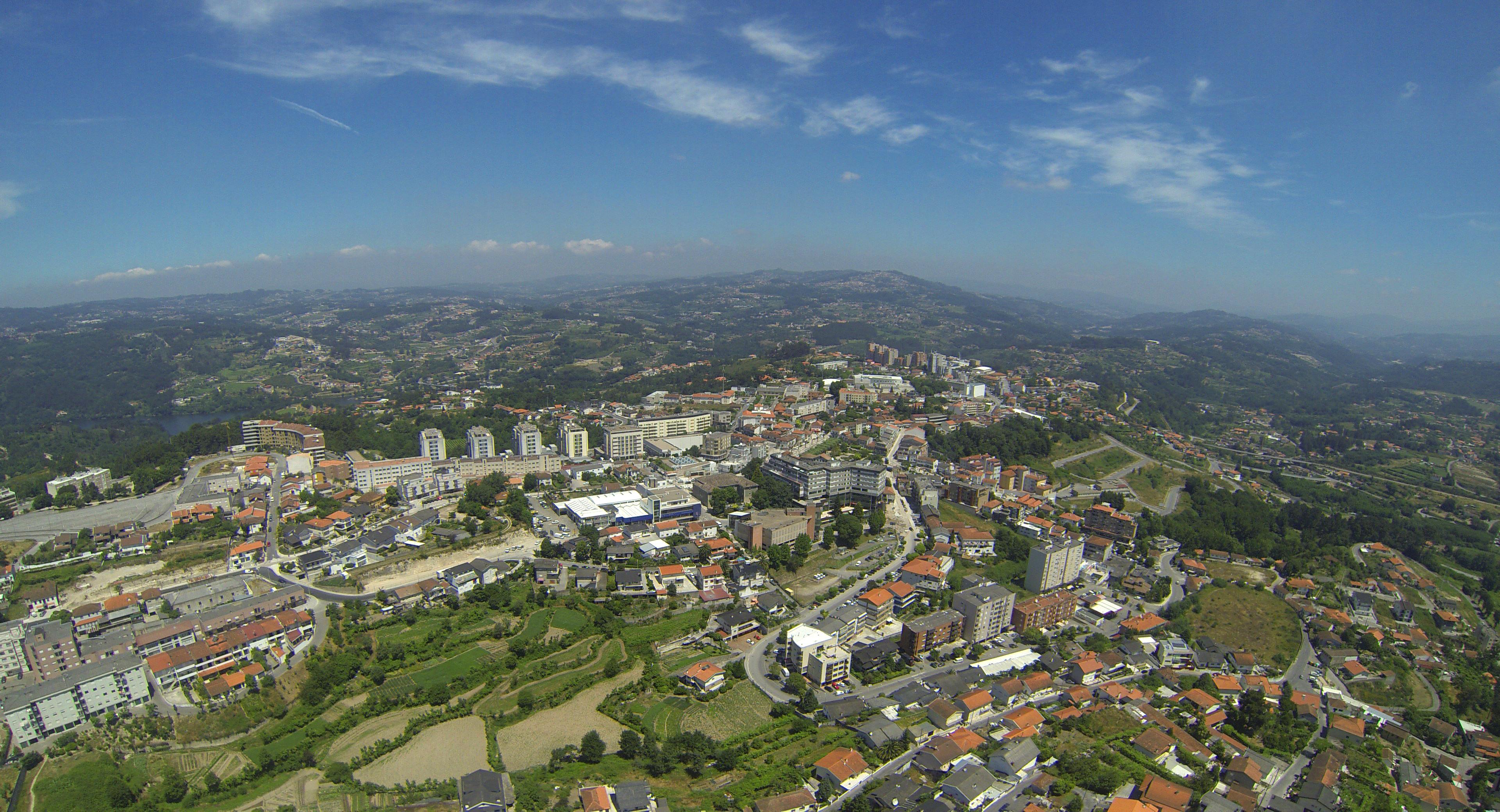 Vista aérea do Marco de Canaveses