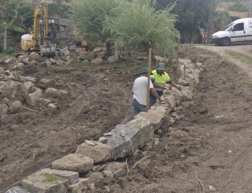 Município investe mais de 140 mil euros na construção de muros de suporte nas freguesias
