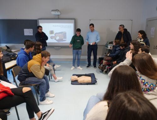 Proteção Civil Municipal e Centro de Saúde local ensinam Suporte Básico de Vida e Primeiros Socorros a 250 alunos da Escola Secundária do Marco