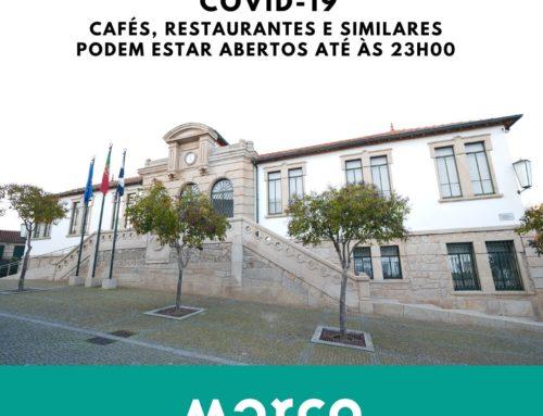Cafés, Restaurantes e Similares podem estar abertos até às 23h00