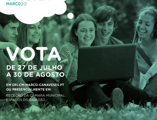Projetos do Orçamento Participativo Jovem em fase de votação entre 27 de Julho e 30 de Agosto.